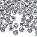 HooAMI - Lot de 100 Assortiments de Perle en 925 Argent 2mm