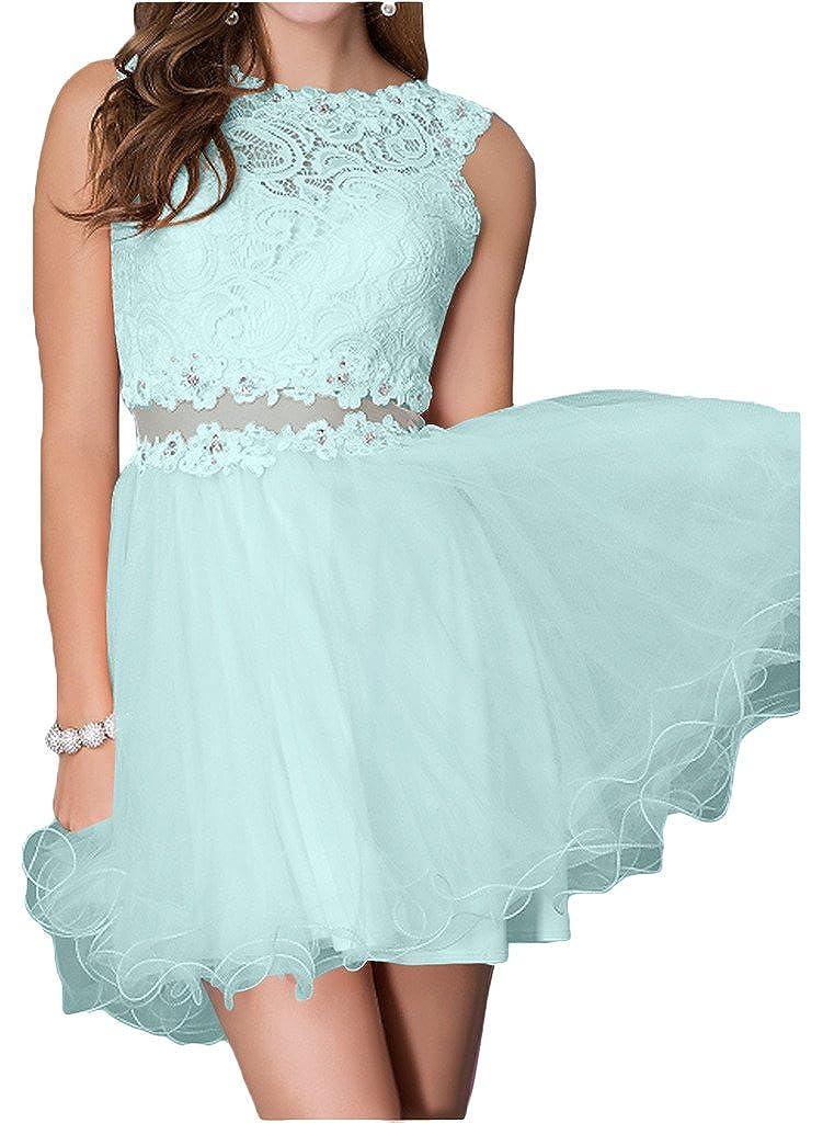 Victory Bridal Glamour Spitze Hundkragen Chiffon Abendkleider Ballkleider  Partykleider Kurz A-linie Mini: Amazon.de: Bekleidung