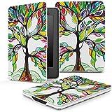 """MoKo la Más Delgada y Ligera Funda para Amazon All-New Kindle Paperwhite (Ambos 2012 y 2013 verciones con 6 """" Display y luz integrada), Lucky Tree (Con Cierre Magnético Para Reposo Automático)"""