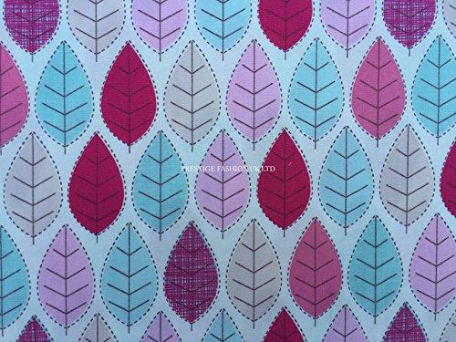 Prestige p0426Mehrfarbig Garden Leaves/Leafs Woodland Print Baumwolle Popeline Rose und Hubble Kleid Quilting Patchwork Stoffe-Meterware Summer