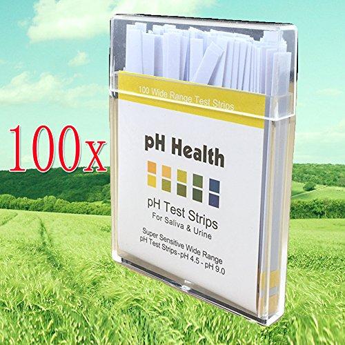 Preisvergleich Produktbild EMOTREE 100x pH Indikatorpapier Health Tester Wasser Labor Alkalinität Säure Teststreifen