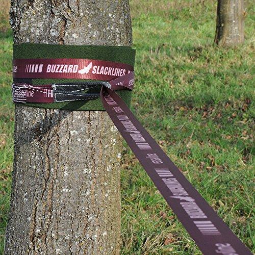 Buzzard Easy-Line Slackline-Set, 15 m lang, 5cm breit + Baumschutz - 6