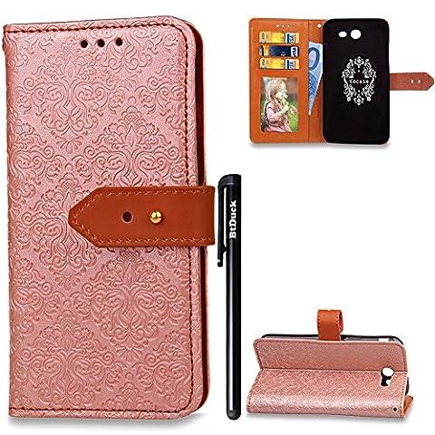 BtDuck Leather Solid Color Case Samsung Galaxy J3 2017 Happy