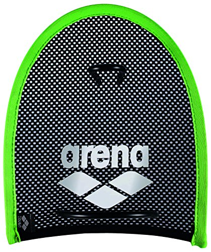 Arena Erwachsene Trainingshilfe Netzstoff Handpaddles, Acid lime_black, M Preisvergleich