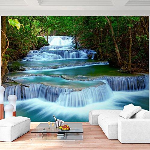 Fototapete Wasserfall 308 x 220 cm - Vliestapete - Wandtapete - Vlies Phototapete - Wand - Wandbilder XXL - !!! 100% MADE IN GERMANY !!! Runa Tapete 9036010b