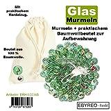 ebyreo | Murmeln - Glasmurmeln im Praktischem Baumwollbeutel zur Aufbewahrung | Glaskugeln Zum Spielen Oder als Dekoration | Murmelbahn