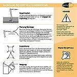 CelinaSun Sonnensegel PES Quadrat 2x2m weiß UPF 50+ Sonnenschutz inkl Befestigungsseile