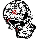 2 Stück Vinyl Aufkleber Autoaufkleber Bomb Stickers Skull Schädel Totenkopf Horror Stickers Auto Moto Motorrad Fahrrad Helm Fenster Tür Tuning B 52
