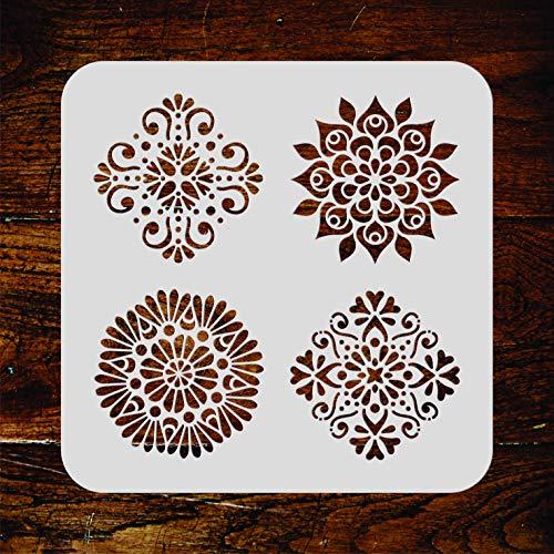 Mini-Mandalas Schablone, wiederverwendbar, klein, 25,5 x 25,5 cm, Mandalas