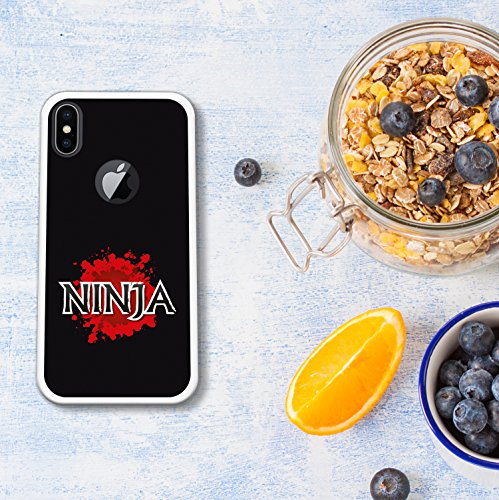 iPhone X Hülle, WoowCase Handyhülle Silikon für [ iPhone X ] Ninja Logo Handytasche Handy Cover Case Schutzhülle Flexible TPU - Transparent Housse Gel iPhone X Transparent D0411