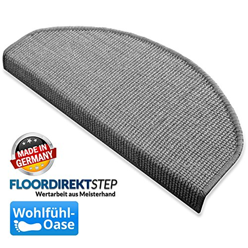 Floordirekt Sisal Stufenmatten - 18x56cm, grau