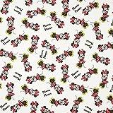 Fabulous Fabrics Dekostoff Cretonne Minnie Maus – wollweiss — Meterware ab 0,5m — Oeko-Tex Standard 100 — zum Nähen von Kinderartikeln, Kissen und Tagesdecken und Taschen