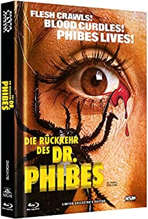 Die Rückkehr des Dr. Phibes - uncut (Blu-Ray+DVD) auf 333 limitiertes Mediabook Cover B [Limited Collector's Edition]