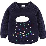 Mud Kingdom Niñas Suéteres Pullover Nube Linda y Lluvias de Colores