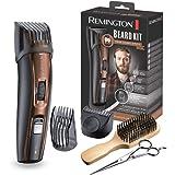 Remington Coffret Rasage, Tondeuse Barbe, Lames Titanium Auto-Affûtées, Sabots Ajustables, Batterie Lithium - MB4045 Beard Ki