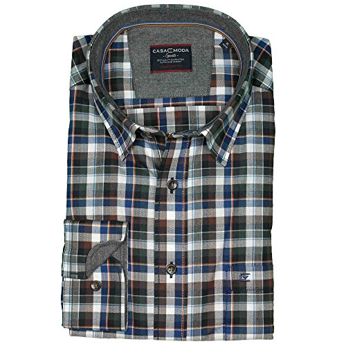 XXL Casamoda Hemd in Übergröße | braun blau kariert Mehrfarbig