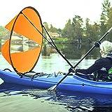 GFEU Downwind Kayak - Vela de Pádel, 42' Portátil Plegable Kayak Viento Vela...