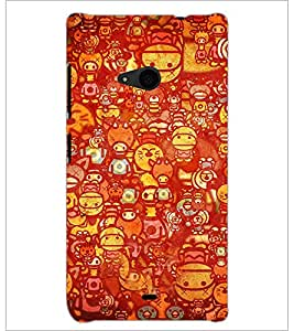 PrintDhaba Graffiti D-3460 Back Case Cover for MICROSOFT LUMIA 535 (Multi-Coloured)