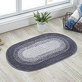 KYCD Einfarbig Fußmatte Innenbereich,Einfach Europäischer Stil Sauberlaufmatte,Multifunktional Rutschfester Badteppich,Blue,60 * 90Cm(24 * 35Inch) S