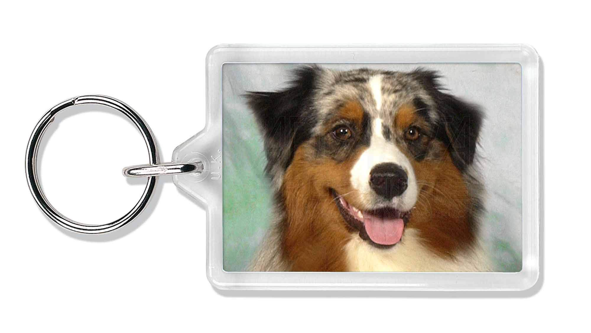 Advanta Group Australian Shepherd Dog Photo Keyring Animal Gift