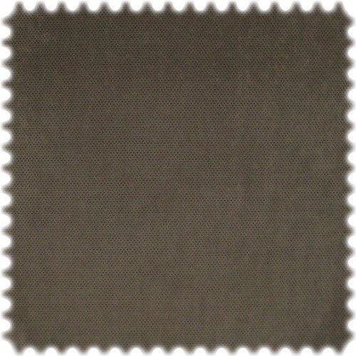 polstereibedarf-online AKTION Original Microfibres® Flockvelours Möbelstoff LONGLIFE Punto Graubraun