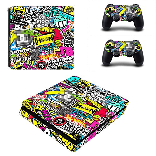 DOTBUY Ps4 Slim Playstation 4 Slim Consola Design Foils Vinyl Skin Sticker...