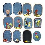 GloBal Mai Cerotti per stirare Bambini, patch ferro-on ovale Applicazione jeans per cucire e stirare.