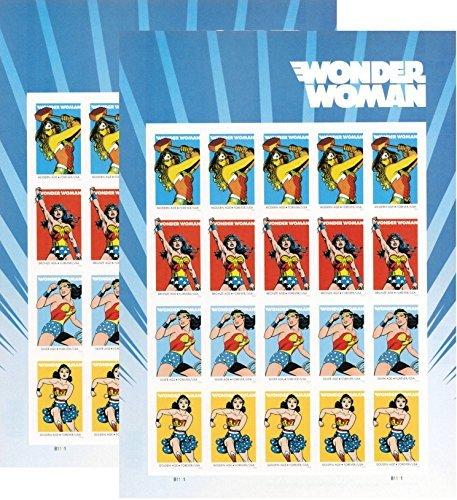 USPS 2016Wonder Woman Set von 2Blatt 20Forever Briefmarken. (Wonder Woman Blatt)