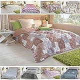 Tagesdecke, gesteppter Bett- und Sofaüberwurf 220x240cm, Auswahl: Design 'Prato'