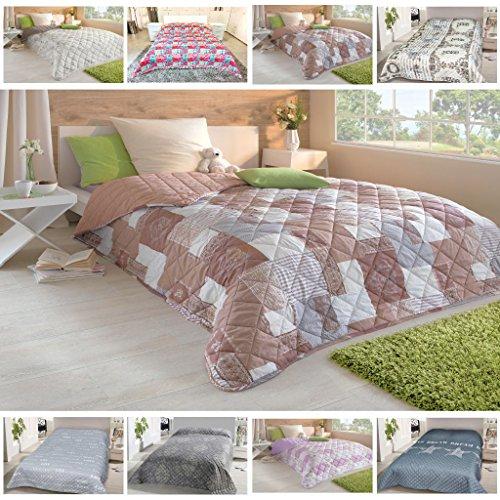 Tagesdecke, gesteppter Bett- und Sofaüberwurf 220x240cm, Auswahl: Design