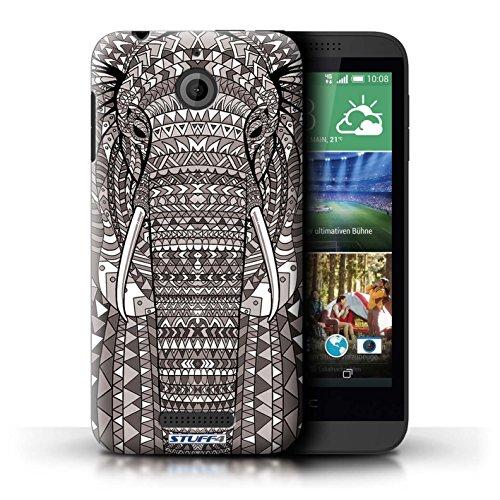 Kobalt® Imprimé Etui / Coque pour HTC Desire 510 / Hibou-Vert conception / Série Motif Animaux Aztec éléphant-Mono