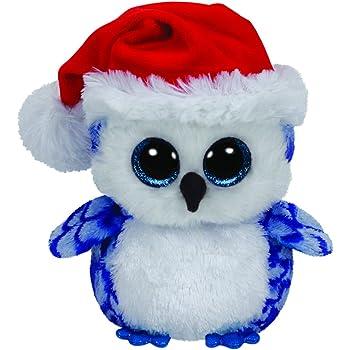 Ty 41120Icicles–Owl with Glitter Eyes Beanie Boo's, X-Mas, 15cm, Blue