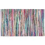 Homescapes Alfombra Chindi Multicolor 70 x 120 cm