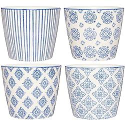 IB Laursen Blumentopf Casablanca Blau 4er Set