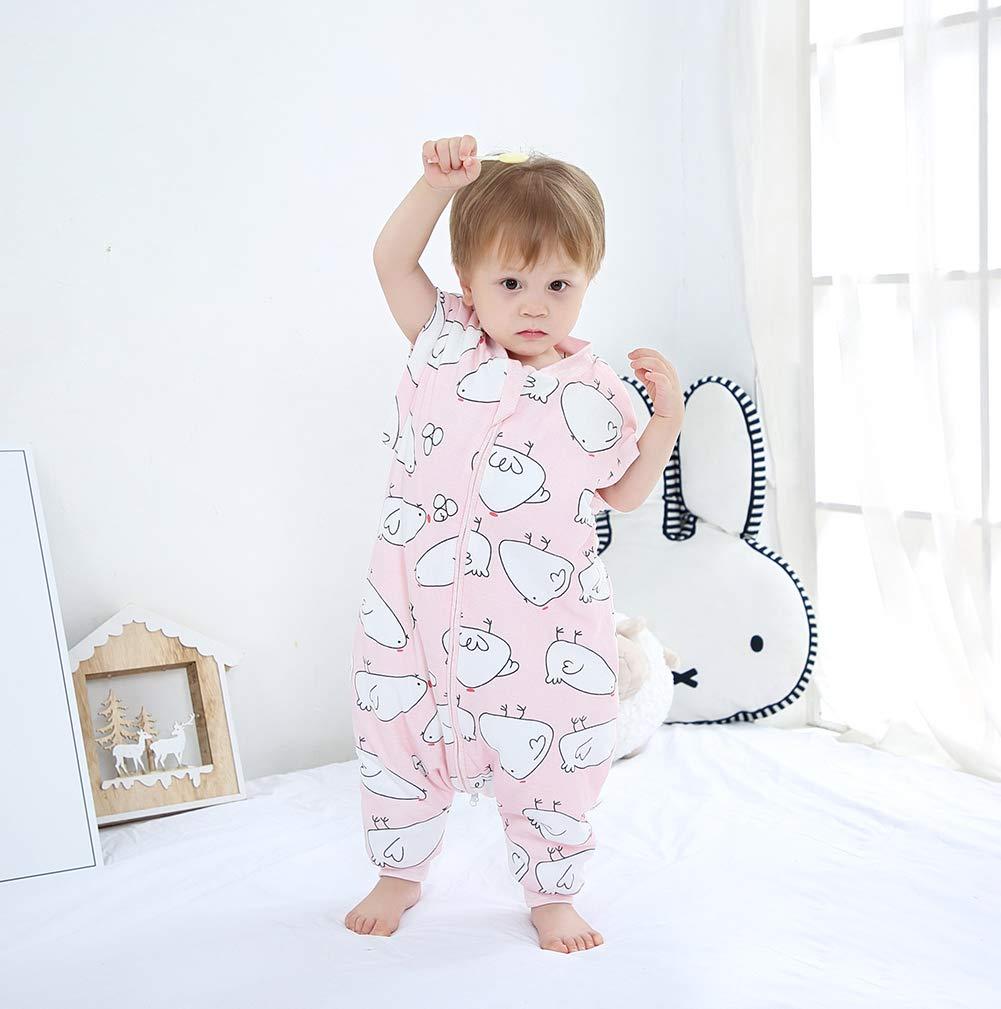 Saco de Dormir de Piernas Divididas para Bebé Cremallera de Invierno Ropa de Dormir Pijama Cálido con Manga Larga Desmontable 0-6 Años