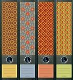 4er Set Ordnerrücken für breite Ordner Pattern III Muster Ordner Aufkleber Etiketten Deko 323