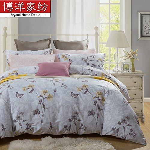 Sammlung ägyptischer Bettwäsche set, langstapelige Baumwolle hypoallergen Blatt,Bettbezug 4 Stück Tröster Set & Kissen Set, voll,