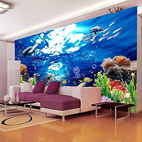 Sykdybz plat fond écran 3D Marine tridimensionnelles Salon canapé Chambre Fond d'entrée de l'étude 150cmx105cm