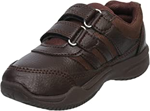 Navigon Brown School Shoes Strap Closure for Boys
