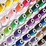 Simthread 63 Farben Polyester Stickgarn - 500 Meter, für Brother / Babylock / Janome / Kenmore / Singer Stickereimaschine