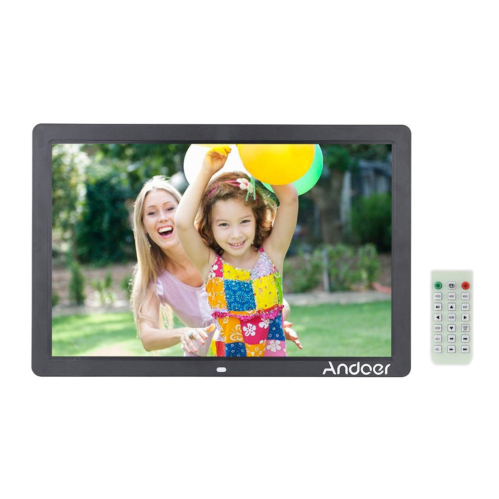 17 Inch Led Digital Picture Photo Frame Remote Control 1080p Video