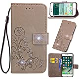 LG G7 ThinQ Case, Meroollc Luxury PU Leather Wallet Flip Protective Daily Case Cover With Card Slots And Stand For LG G7 ThinQ Grey