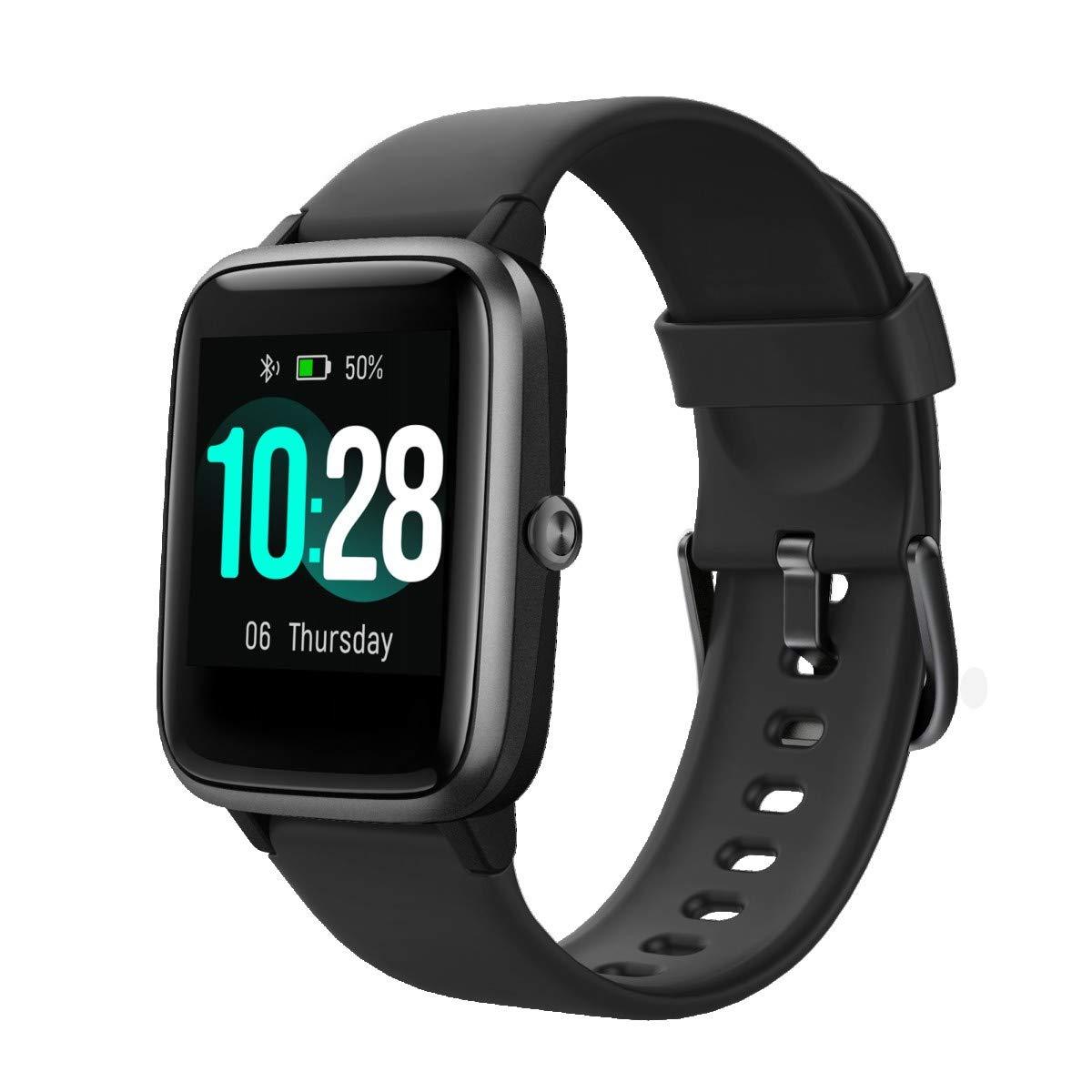 TOOBUR Smartwatch, IP68 Impermeable Reloj Inteligente con Pulsómetro, 1.3 Pulgada Pulsera Actividad Inteligente con Podómetro Monitor de Sueño, Reloj Actividad Mujer Hombre Niño para iOS Android