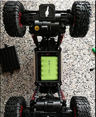 GizmoVine Bateria 1/16 Coche Teledirigido RC Car Off-road Rock Crawler 2.4GHZ 4WD RC Car