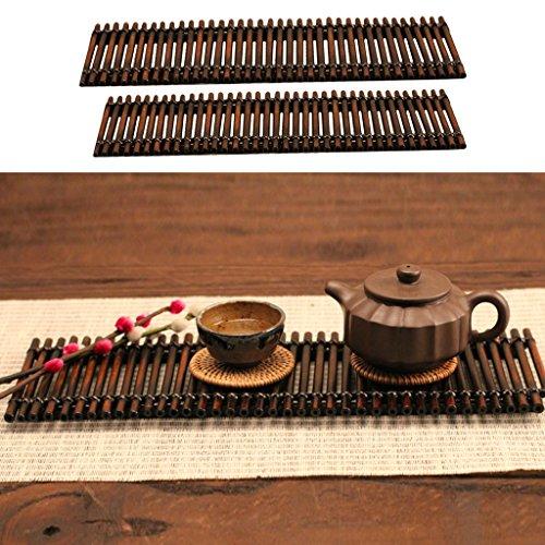 Serviertablett Tischplatte für Tee oder Kaffee - s (Bambus-tischplatte)
