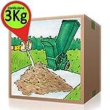 Attivatore di compost per erba tosata foglie residui di potatura Kg 3
