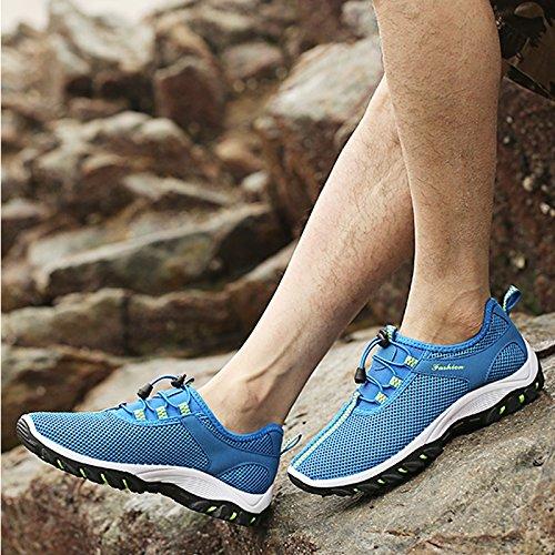 Scarpe da ginnastica da uomo ultraleggere in rete traspirante, per escursioni e arrampicate Light bule