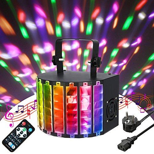 E LED DJ Licht PA Licht BlitzLicht Par Lichter Disco Lichteffekte 9 Color Stroboskop Lampe Bühnenbeleuchtung Musikgesteuert Projektor mit Fernbedienung 7 Kanal für KTV Party RGB ()