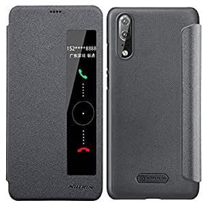 outlet store e62fb ed18c WATACHE Huawei P20 Pro Case Auto Wake Up/Sleep View Window Full Body  Protective Slim Fit PU Leather
