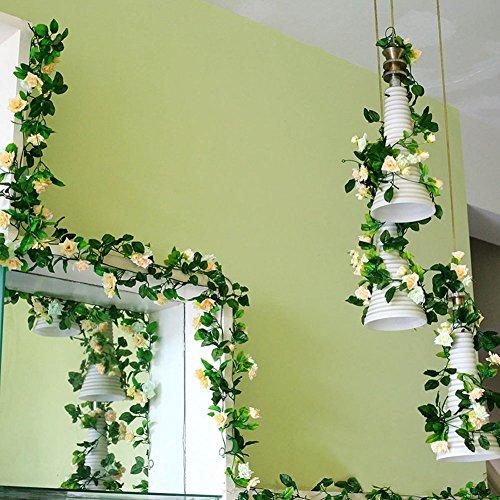 lumen rattan Décor hängende Dekoration für Hochzeit Party künstliche blumen efeu Girlande Simulation silk Blume rattan Simulation Décor (Hängende Dekorationen)